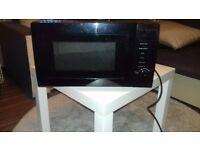 A black microwave