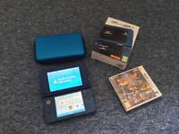 NEW 3DS XL Console, Metallic Blue, Boxed (charger, case and Dragon Quest VIII included) !!!