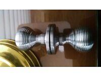 Art Deco style chrome doorknob handle