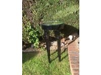 Shabby Chic Nightclub Table with Mirrored Top, ideal for up-cycling
