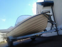 Boat 13 ft.Trailer Galvanized. Outboards 28 & 2.5. Dingy Inflatable