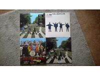 selection unopened remastered beatles records