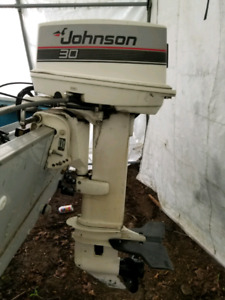 30hp johnson with controls $1800 or best offer.