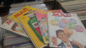 Box of Mad and cracked magazines