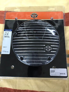 Harley Black Fin Derby Cover & Timing Cover