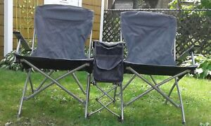 Double folding chairs