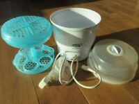 Avent Express Steam Baby Bottle Steriliser with Teat Basket (Electric) - Very Good Condition