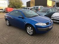 Megane Cabriolet...1.6 Petrol....12 Mth MOT....P/X welcome....Service History....