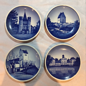 LOVELY SET OF 4 DANISH TEA BAG PLATES IN EXCELLENT CONDITION!!