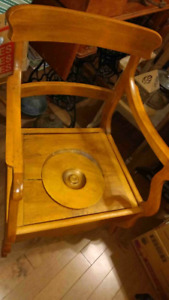 Antique wooden commode