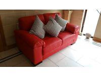 Fabulous red leather sofas