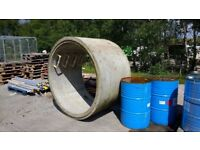 Concrete Manhole Chamber Ring. ID: 1500mm, Wall Thickness: 110mm, Depth: 1000mm