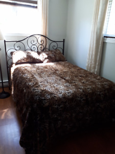 Faux-fur Queen Duvet Cover Set