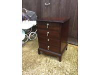 Four drawer stag bedside cabinet