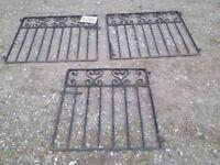 Wrought Iron - Pair of Driveway Gates & 1 Garden Pathway Gate