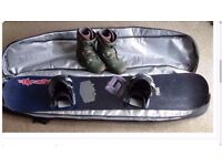 Snowboard (gnu carbon highbeam), Vans boots and flow bindings