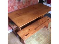 picnic bench, kitchen table set, sold now