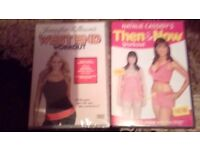2 Fitness and Work out dvds, £2 for both