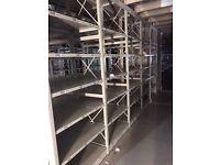 job lot 10 bays link 2.5m high industrial shelving (pallet racking, storage )