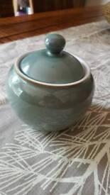 Second Denby Regency Green sugar bowl