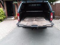 Nissan Navara sliding load runner