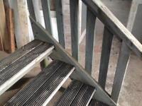 Caravan steps wooden chunky