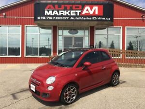 2012 Fiat 500 Sport, ALLOYS, WE APPROVE ALL CREDIT
