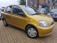 Toyota Yaris 1.0 VVT-i 16v GLS 5dr BEAUTIFUL LITTLE CAR 2 OWNERS Low Warranted Miles,