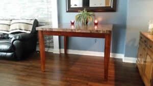 Stone Top Bar Height dinning Table set