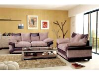 **30-DAY MONEY BACK GUARANTEE!** - Dino Premium Fabric Corner Sofa Suite - SAME/NEXT DAY DELIVERY!