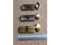 3 x euro cylinders for double glazing with 3 keys each