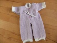 Dolls hand knitted sleepsuit new