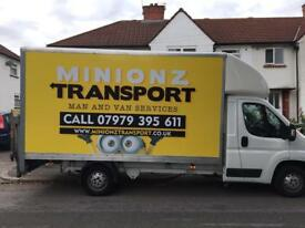 ( Minionz Transport ) Man and van services . Removals . Domestic / commercial delivery service