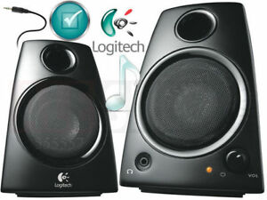 *new Logitech 2 Channel Multimedia Speaker System Headphone jack