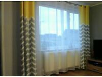 Grey-Yellow Curtains