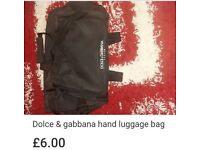Dolce and gabanna hand luggage bag