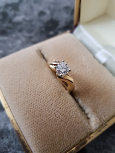 14k Gold .59ct Diamond ring