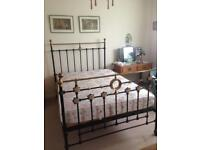 Victorian brass and iron bed frame