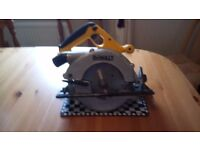 Used Dewalt DW007 cordless 24 v Circular saw in GWO, ( bare ), see photos & details