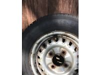 Steel wheel and 13 inch tyre