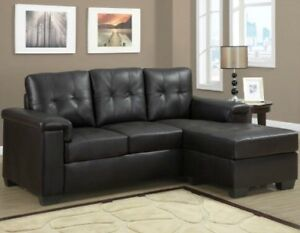 Brand new chocolate brown sectional