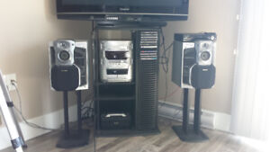 Panasonic stereo system with stand
