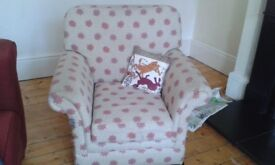 Midas armchairs, two, refurbishment project