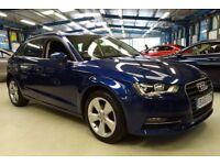 Audi A3 TDI SPORT [SAT NAV / COMFORT PACK / 1 OWNER] (scuba blue metallic) 2013