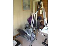 Body sculpture cross trainer machine