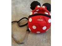 Disney little life backpack with reins