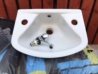 Small wash hand basin 350 wide x 260