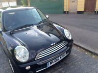 Mini One car for sale (black colour, brand new MOT)