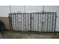DRIVEWAY GATES (DOUBLE) WROUGHT IRON EASY COVERT TO TALL SINGLE