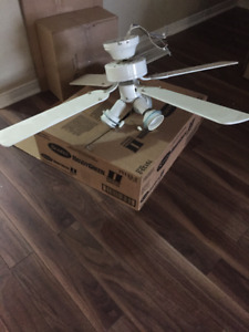 White Ceiling Fan 42""